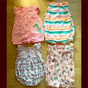 Other - Cute summer baby girl rompers size 9-12 months